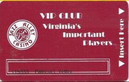 Jazz Alley & Gold Mine Casinos Black Hawk CO VIP Club Slot Card - Casino Cards