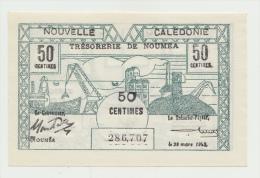 New Caledonia 50 Centimes 1943 UNC NEUF Pick 56 - Nouméa (New Caledonia 1873-1985)