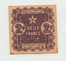 MOROCCO 2 FRANCS 1944 UNC NEUF PICK 43 - Maroc