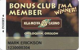 Kla-Mo-Ya Casino Chiloquin OR Slot Card - Casino Cards