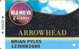 Kla-Mo-Ya Casino Chiloquin OR 8th Issue Slot Card - Casino Cards