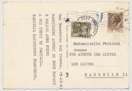 CP Depuis Italie - Taxée 0,20 Gerbes - Marseille St Just 1983 - Taxes