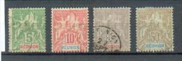 REU 379  -  YT 46-47-48-51 Obli - Réunion (1852-1975)