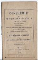 Confrérie De Prieres Pour Les Morts 1877 - Andachtsbilder
