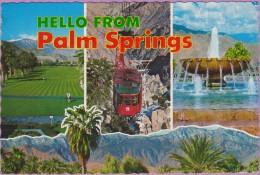 Usa °° Californie - Palm Springs Multivues 3 Photos - Dentelée écrite1974 ° T-P - Palm Springs