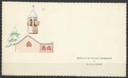 Hungary, Marry Christmas, HNY,  Temple, Hand Painted, ´60s. - Xmas
