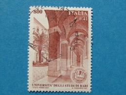 ITALIA USATI 2001 - UNIVERSITÀ´ DEGLI STUDI DI BARI - RIF. G 1843 LUSSO - 6. 1946-.. Repubblica