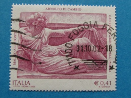 ITALIA USATI 2002 - ARNOLFO DI CAMBIO - RIF. G 1845 - 6. 1946-.. Repubblica