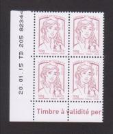 FRANCE / Coin Daté / Y&T N° 4771 / 2015/01/20 / TD 205 / Marianne De Ciappa TVP LET 50g - 2010-....