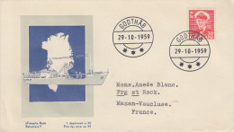 Enveloppe  1er  Jour  GROENLAND   Roi  FREDERIK  IX   1959 - FDC