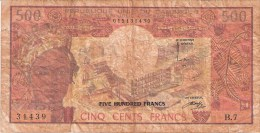 CAMEROUN      500 FRANCS      ND (1974;84)      P. 15b      (voir 2 Scans) - Cameroon