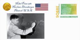 Spain 2015 - Nobel Prize 1981 Phisical - Nicolaas Bloembergen/United States Prepaid Cover - Nobelpreisträger