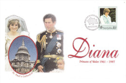 FDC SEYCHELLES - 31.03.1998 - DIANA Princess Of Wales - ST PAUL'S CATHEDRAL - Seychelles (1976-...)