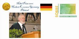 Spain 2015 - Nobel Prize 2000 Phisical - Herbert Kroemer/Germany Prepaid Cover - Nobelpreisträger