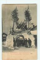 MONTGENEVRE - Concours International De Skis Alpin - Arc De Triomphe De Neige Côté Italien - 2 Scans - France