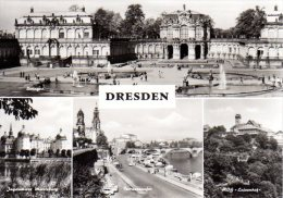 Dresden - S/w Mehrbildkarte 81 - Dresden