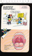 Fiche Disney Humour / Amygdales Médecine Corps Humain Bouche Dents Dentition  / IM CP/GF - Vieux Papiers