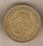 Sud Africa - Moneta Circolata Da 1/2 Centesimo - 1961 - Sud Africa