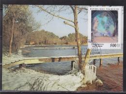 =Odilon Redon Carte Postale 1er Jour 33 Bordeaux 3.3.90 N°2635 Profil De Femme, Illustration Lac De Biscarrosse Landes - 1990-1999