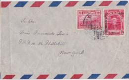 ECUADOR - EQUATEUR - Air Mail Cover - Overprinted Stamp Alfabetizacion 50 Ctvos - Servicio Aereo - Timbre Surchargé - Equateur