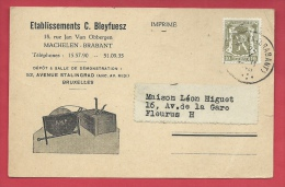 Machelen - Reclamekaart : Etablissements C. Bleyfuesz, Rue J. Van Obbergen ( Verso Zien ) - Machelen