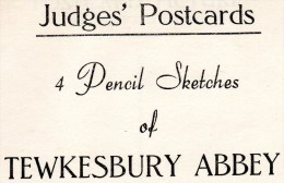 4 Postcards - Tewkesbury Abbey, Gloucestershire. A - Otros