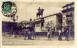 LIVORNO PIAZZA VITTORIO EMANUELE 1931 FOTOGRAFICA    L800 - Livorno