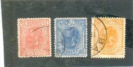 1893 ROUMANIE Y & T N° 106 - 108 - 111  ( O ) Cote 2.00 - 1881-1918: Charles I