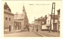 BELLAIRE  --  L'Eglise Et L'arrêt Du Vicinal - Beyne-Heusay