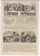 1867 Italian Magazine Wonderful Engraving Of A Polish Synagogue Hebraica   Hebrew  Israelite Jew  Jewish - Zeitungen & Zeitschriften