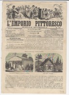 1867 Italian Magazine Wonderful Engraving Of A Polish Synagogue Hebraica   Hebrew  Israelite Jew  Jewish - Magazines & Newspapers