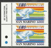 1995 San Marino Saint Marin POSTACELERE 2 Serie In Coppia MNH** - Posta
