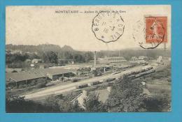 CPA Chemin De Fer Train Ateliers Du Quartier De La Gare MONTATAIRE 60 - Montataire