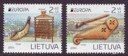 CEPT 2014 - Lithuania - Set Of 2 V Paper - MNH** - 2014