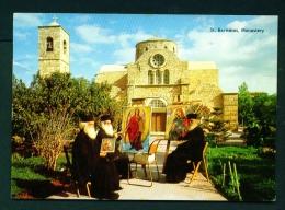 CYPRUS  -  St Barnabas Monastery  Ikon Painters  Used Postcard As Scans - Cyprus