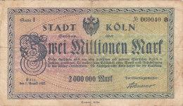 Kön - Zwei Millionen  2 000 000 Mark 1923 - [11] Emissions Locales