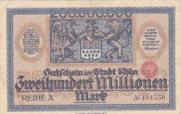 Köln - Zweihundert Millionen  200 000 000 Mark 1923 - [11] Emissions Locales