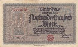 Köln - Fünghunderttausend  500 000 Mark 1925 - [11] Emissions Locales