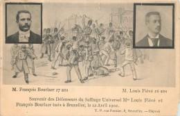 Bruxelles - Souvenir Des Défenseurs Du Suffrage Universel Tués Le 12 Avril 1902 - Petit Défaut En Bas à Droite - Festivals, Events
