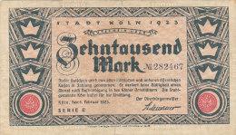 Köln - Zehntausend  10 000 Mark 1923 - [11] Lokale Uitgaven