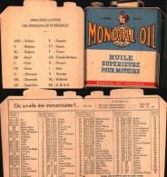 Publicité Huile Mondial-oil Bordeaux - Les Nouvelles Immatriculations - Pubblicitari