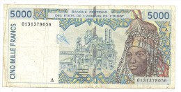 West African / Ivory Coast 5000 Francs 2003 - West-Afrikaanse Staten