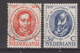NVPH Nederland Netherlands Pays Bas Niederlande Holanda 743 744 Used Internat. Jaar Geestelijke Volksgezondheid 1960 - Oblitérés