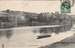 CPA CREIL (Oise) - Route De L´Ile à L´Impasse Du Palais - Creil