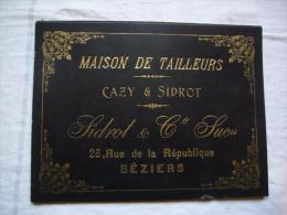 Porte Lettres Pub Sidrot & Cie Maison De Tailleurs à Béziers - Publicités