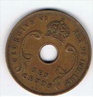 Monnaie    EAST   Africa  10 Cents    1937 - Monnaies