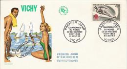 FRANCE CHAMPIONNAT MONDE SKI NAUTIQUE VICHY 1963 CHAMPIONSHIP WORLD WATER SKIING NAUTISCHER SCHI