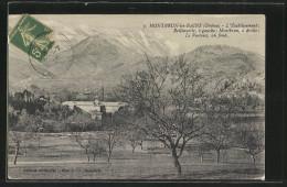 CPA Montbrun-les-Bains, L'Établissement Reilhanette A Gauche - Non Classés