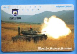 Japan Japon Telefonkarte Télécarte Phonecard -  Militär Militairy Krieg War Panzer Tank - Armee