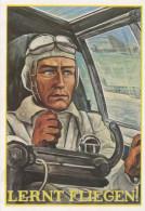 1667 Propagandakarte NSFK Lernt Fliegern Ungel. - Weltkrieg 1939-45